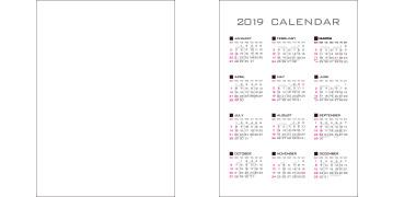 カレンダー下敷き(B5)