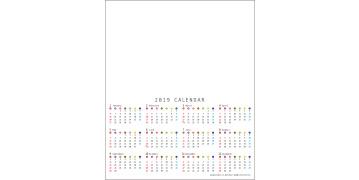 カバー付パステルふせんカレンダー カラードット