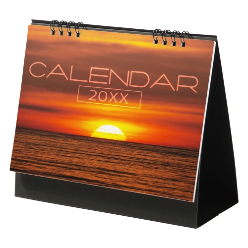 表紙オリジナルリング式卓上カレンダー(大)