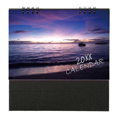 オリジナルリング式卓上カレンダー(両面カラー・大)