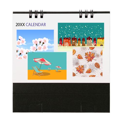 オリジナルリング式卓上カレンダー(両面カラー・小)
