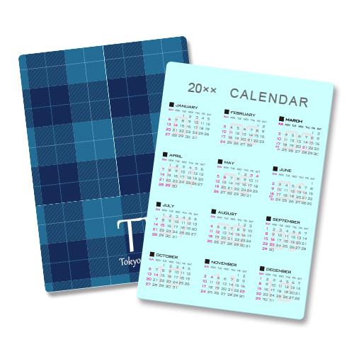 カレンダー下敷き(A4)【 片面カラー】